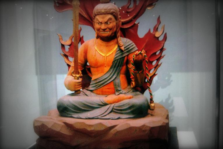 馬淵先生が昭和57年に出雲市の馬木不動尊光明寺に奉納された不動尊像