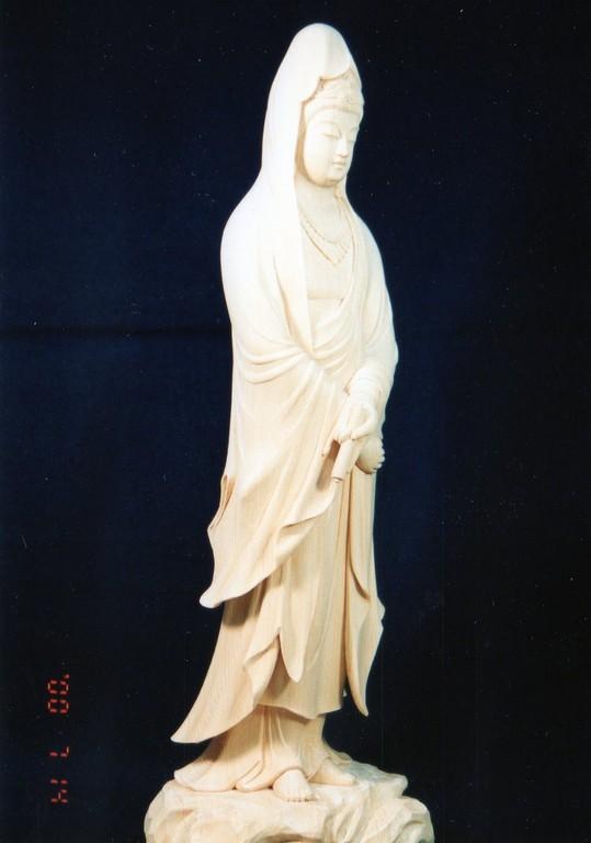 作 ・ 木 下 聖 峰  「白衣観音」