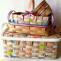 雑誌Como 2013.8月号 暮しニスタコンテスト2013にて「いいね!」賞をいただきました。   マスキングテープと紙バンドで作る収納カゴ
