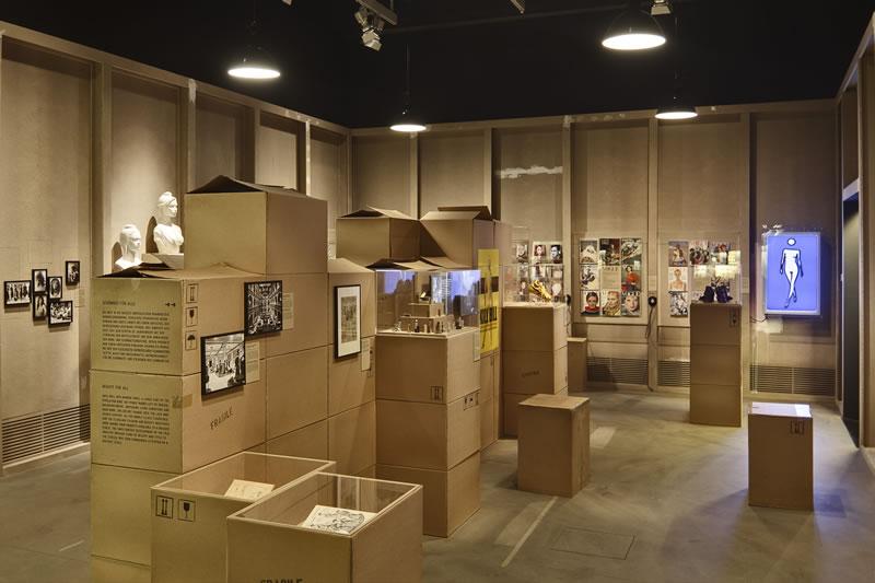 """Blick in den Ausstellungsbereich """"Macht und Macher"""""""