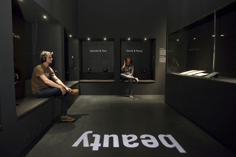 """Audioinstallation im Ausstellungsbereich """"Wahrnehmung und Bewertung"""""""
