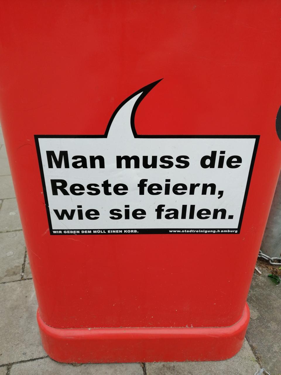 In Hamburg kann man auch ohne Feste feiern