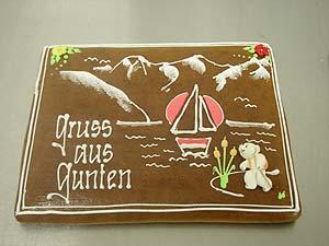 selbstgemachte Lebkuchen als Weihnachtsgeschenk von der Bäckerei Spicher in Gunten am Thunersee