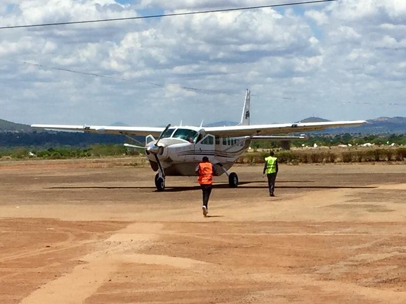 Cessna Caravan auf dem Flughafen von Songea