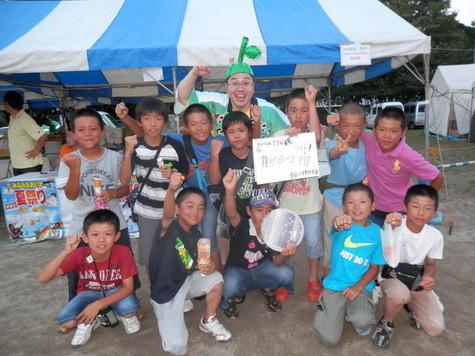 みなみおおいた夏祭りにて竹田市水害支援の募金活動