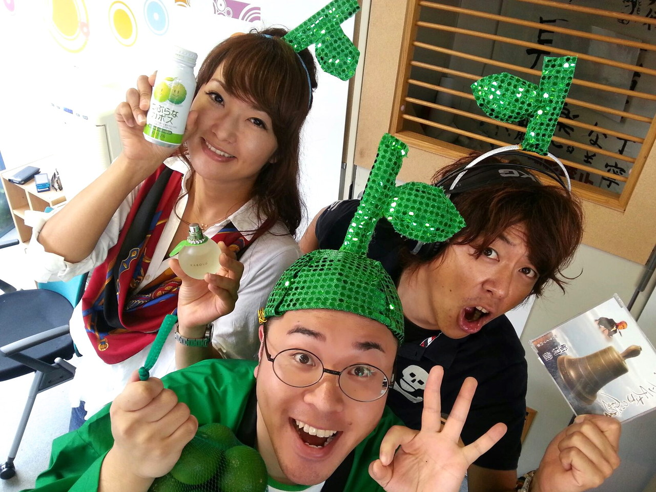 大分で大人気の岩崎朋美さん、大野タカシさんと一緒にスリーカボッスです