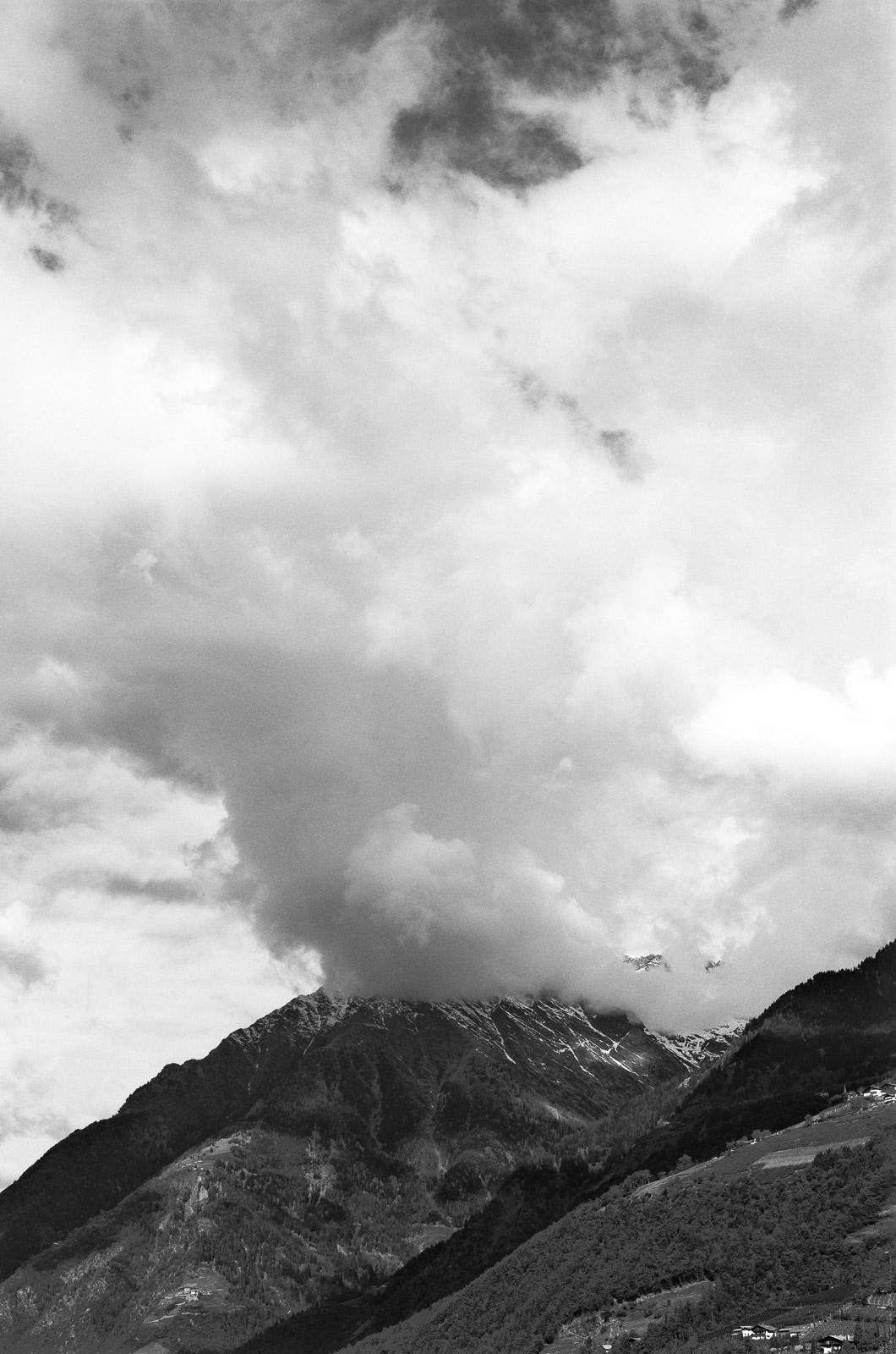Clearing rainstorm, Italian Alps