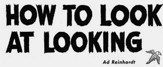 Ad Reinhardt: How to Look at Looking, 1946, detail