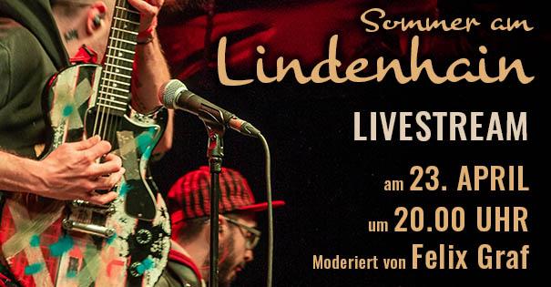 Werbebanner für den Livestream Sommer am Lindenhain