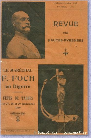 journal de 1919 au moment de la visite de Foch à Tarbes