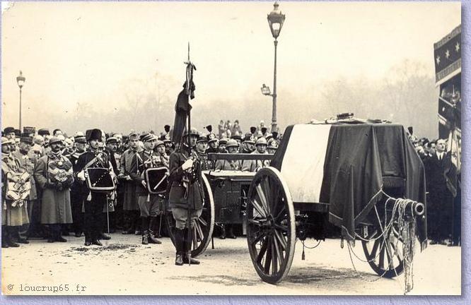 lors des obsèques du Maréchal