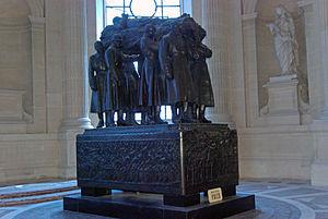 le tombeau du maréchal Foch sous les Invalides àParis