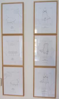 Charly Wüllner Zeichnungen IX - XIV