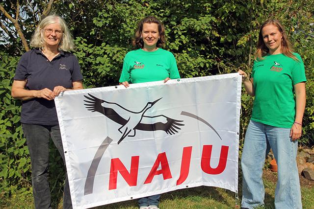 Margit Bichelmeier, Andrea Onkes und Katharina Knape vom NAJU-Team
