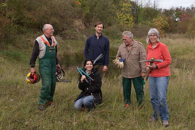 Ein Teil unserer Biotoppflege-Truppe