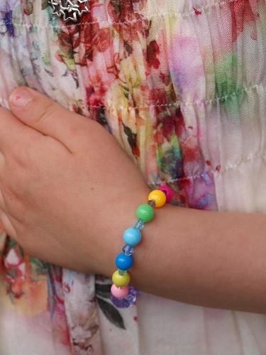 Glasperlenarmband ELA EIS Kindergeburtstag