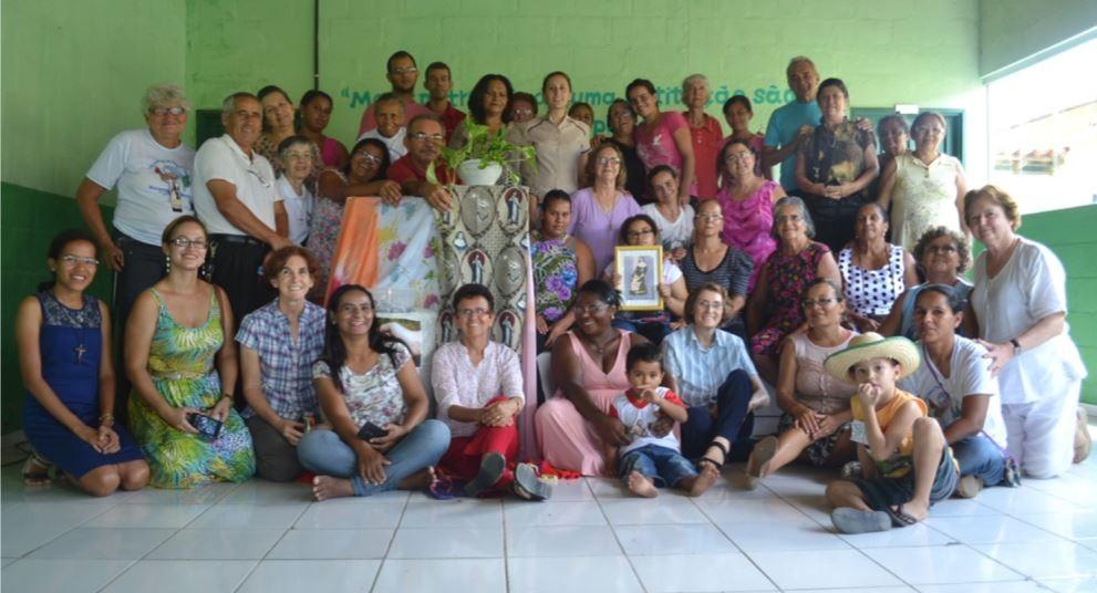 Irmã Carolina anima o encontro dos Leigos missionários em Nordestina