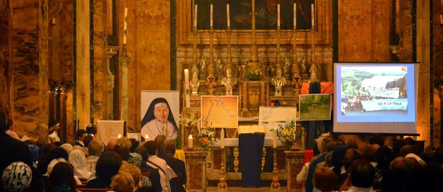 Na Igreja Saint Louis des Français em Roma