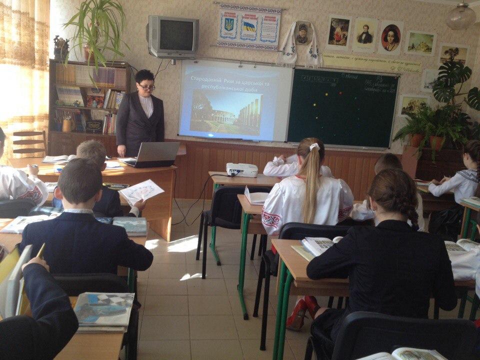 Урок в 6-А класі (вчитель Л.В. Нагай)