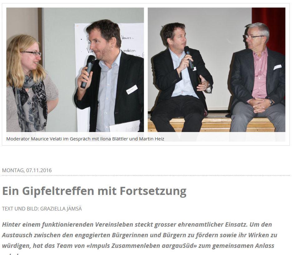 Moderator und Diskussionscoach: Am Gipfeltreffen der Vereinspräsidenten im Wynental ging es darum, Ideen für die Zukunft zu finden (dorfheftli.ch)