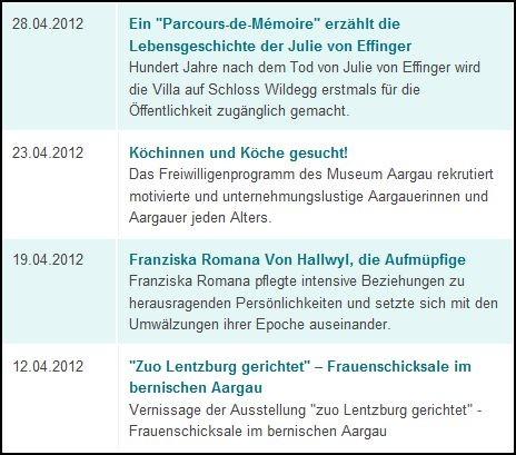 Medienmitteilung Museum Aargau Journalismus