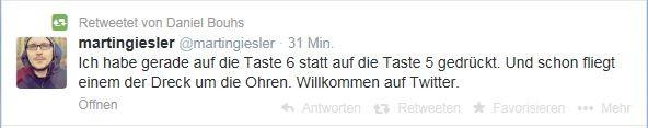 Tweet von ZDF-Redakteur zu Tippfehler Hoeness