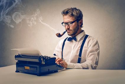 Symbolbild Journalist am Schreiben