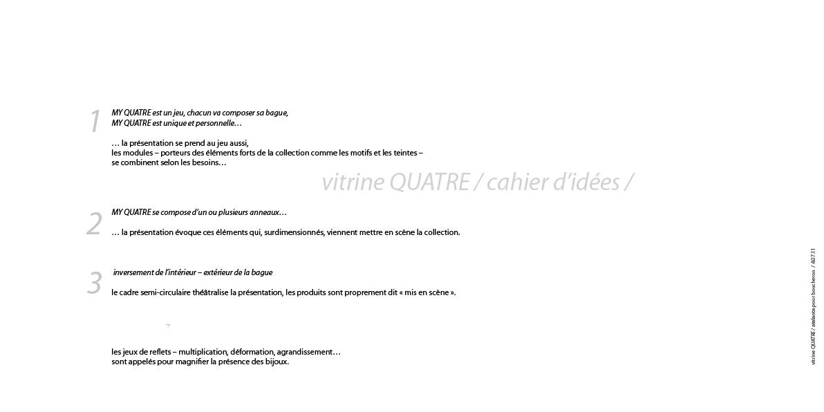 PLV BOUCHERON collection QUATRE / étude