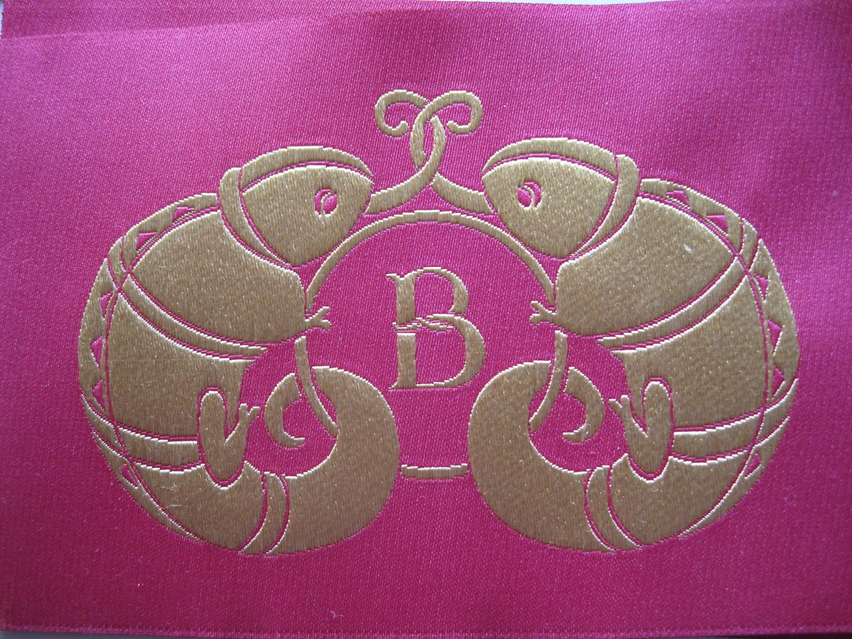 objet promotionnel presse, habillage en satin brodé : : étude pour Boucheron, coll. Bestiaire de Boucheron, 2010-11