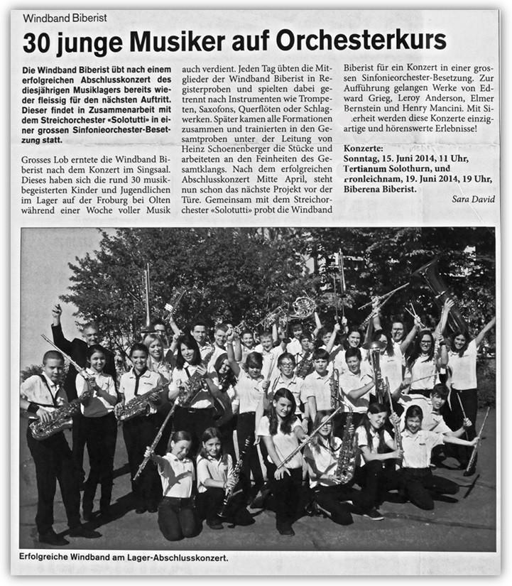 Biberister Kurier - Ausgabe 2, Juni 2014