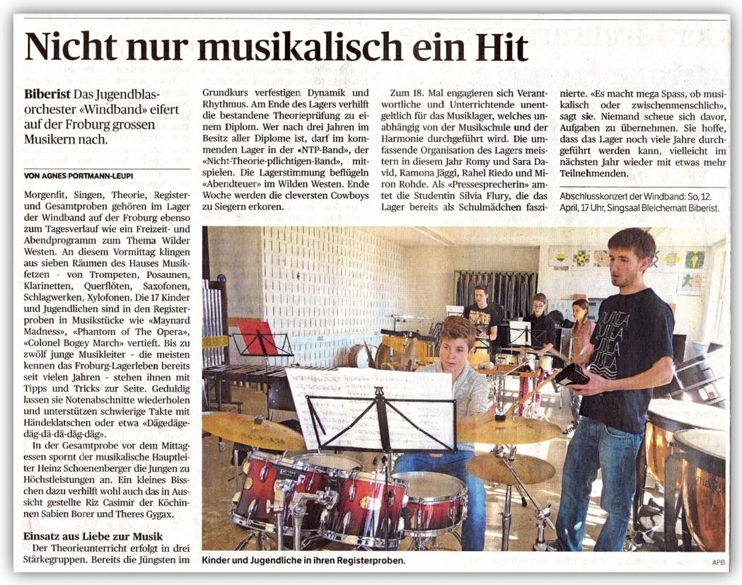 Solothurner Zeitung, April 2015