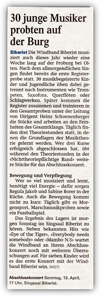 Solothurner Zeitung, 12. April 2014