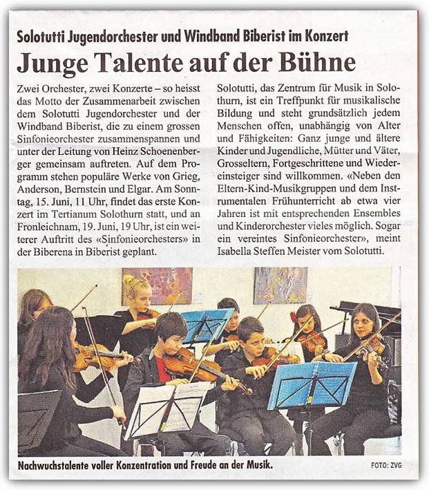 Solothurner Woche, 12. Juni 2014