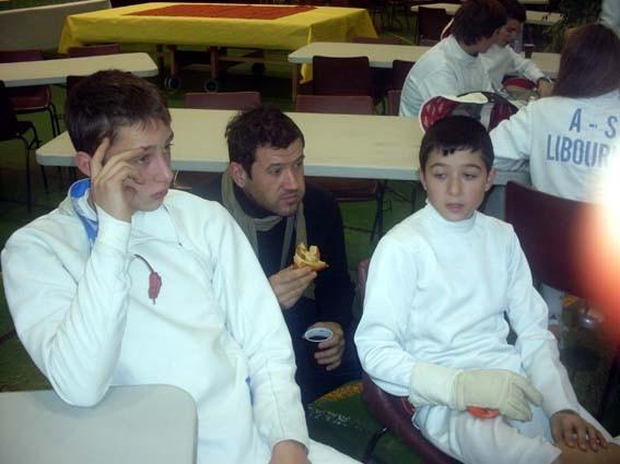 Mathieu, Stéphane et Quentin
