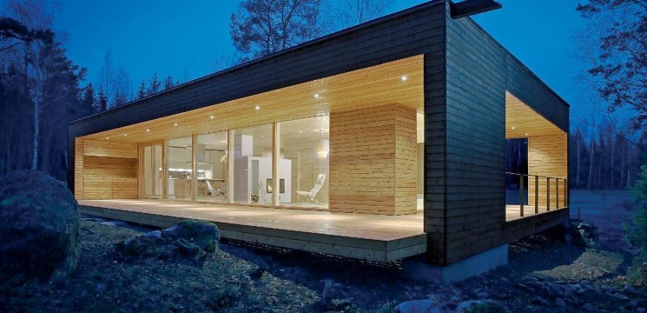 Casas minimalistas en madera woodfactory argentina for Casas de madera minimalistas