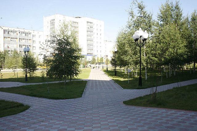 Вид на городскую площадь.
