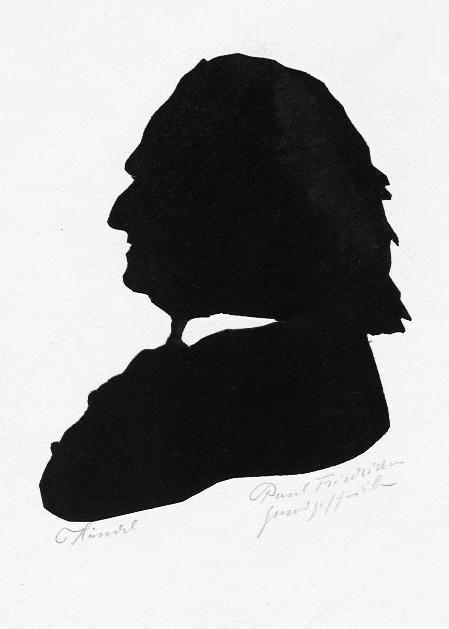 Georg Friedrich Händel von Paul Friedrichsen handgeschnitten