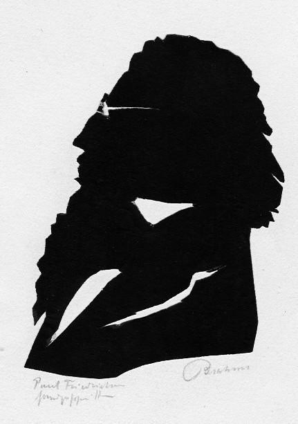 Johannes Brahms von Paul Friedrichsen handgeschnitten