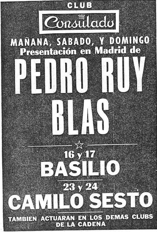 Sala Consulado, Madrid 1971