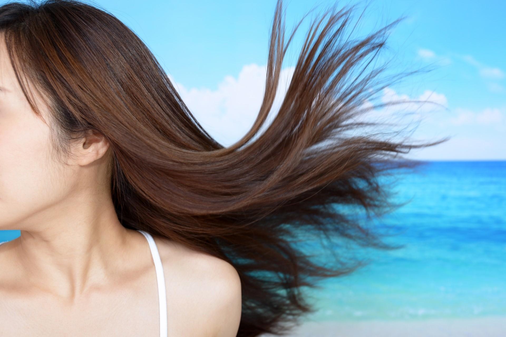 毛髪の日焼け