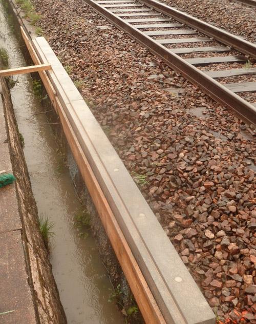 Longrines sur voies ferrées