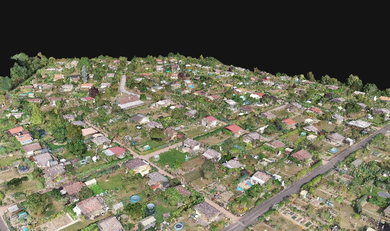 3D Modell Kleingarten Aschaffenburg