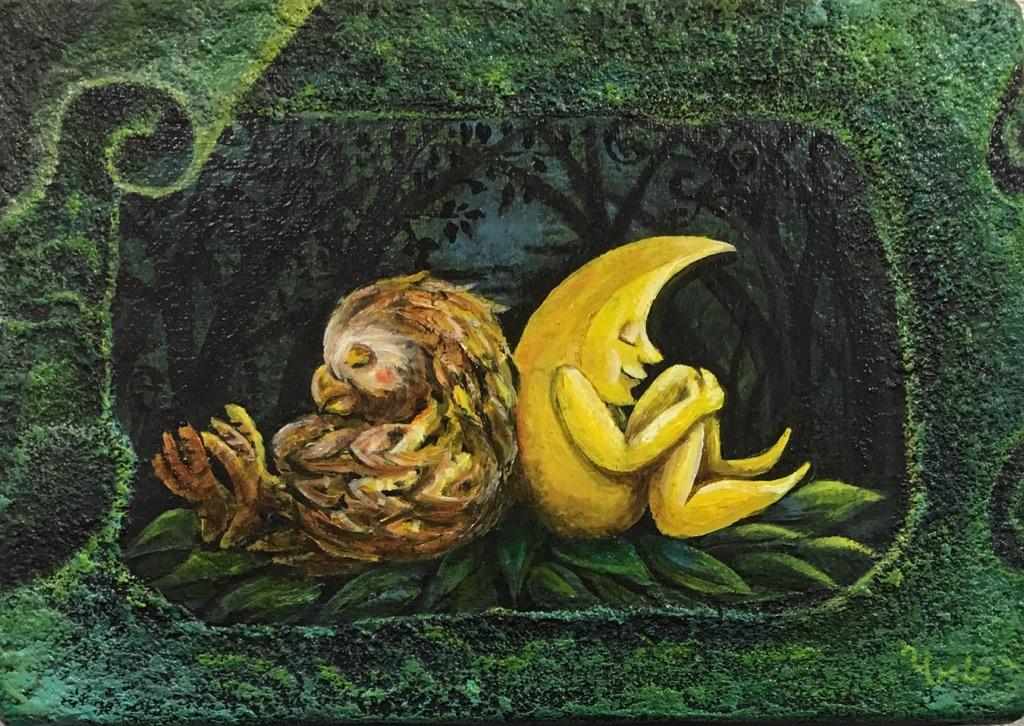 第7回 サムホール展静岡 市民賞 白鳥幸雄  「森の友達」