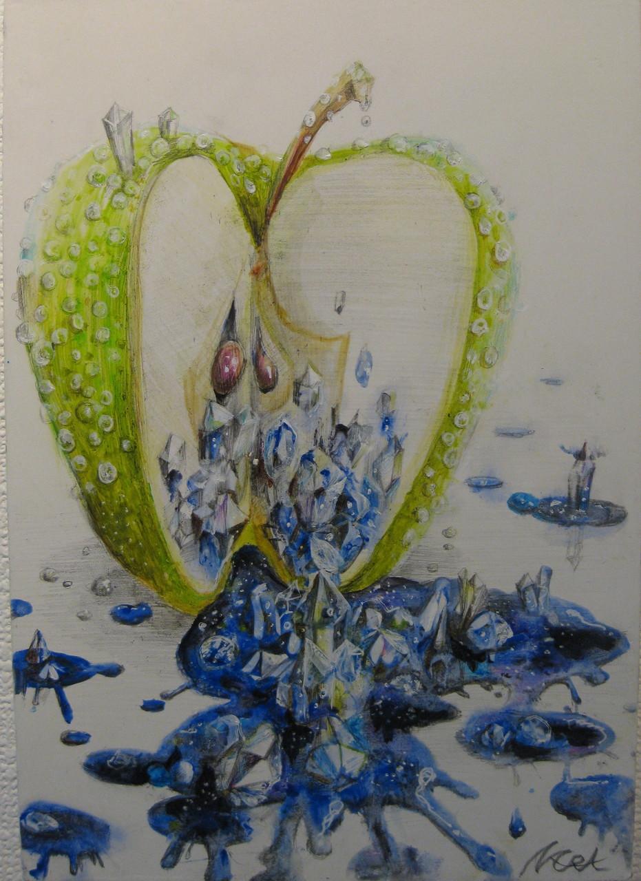 第4回 サムホール展静岡 市民賞 ナグラ マリ 「宇宙リンゴ」