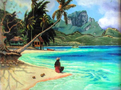 N°55 Fare bord de mer, Bora Bora 2001 Giclée sur toile 41X51