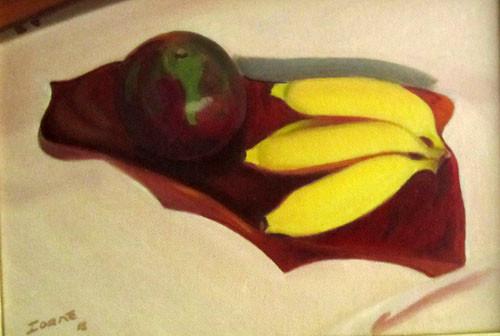 Ioane Umete avec bananes 19x27 HST