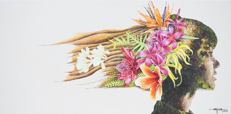 N°2 Des fleurs plein la tête 30x60