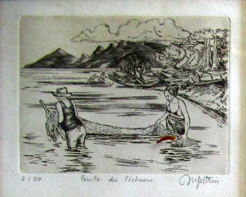 N°26 Pointe des pêcheurs Estampe sur cuivre 4/50 9X11,5