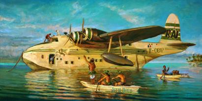 N°357 Maeva i Bora Bora 2020 Huile sur toile 50x100   Vendu