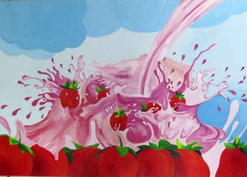 Carole Strawberries 70x100 AST